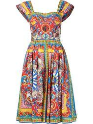 платье с принтом 'Carretto Siciliano' Dolce & Gabbana