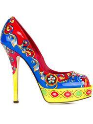 туфли с принтом 'Carreto Siciliano' Dolce & Gabbana