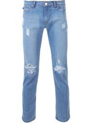джинсы кроя слим с рваной отделкой Ovadia & Sons