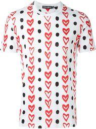 футболка с принтом сердец Dolce & Gabbana