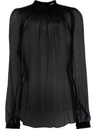 прозрачная блузка с присборенными рукавами Nº21
