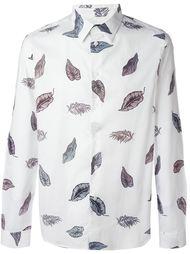 рубашка с лиственным принтом  PS Paul Smith