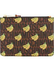 клатч с принтом бананов Moschino
