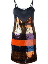 полосатое платье с пайетками Sonia By Sonia Rykiel