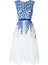 платье с вышивкой  Christian Pellizzari