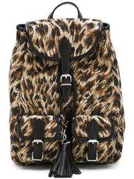 рюкзак с леопардовым принтом  Saint Laurent
