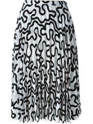 плиссированная юбка с принтом J.W. Anderson