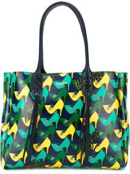 сумка-тоут с принтом туфель Lanvin
