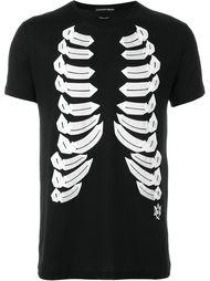 футболка с принтом ребер Alexander McQueen