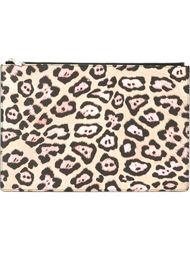 клатч с леопардовым принтом Givenchy