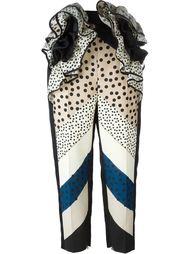 зауженные брюки с полосатым принтом Delpozo