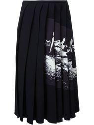 асимметричная плиссированная юбка с заплаткой Victoria Beckham