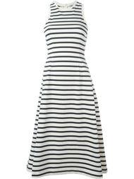 расклешенное платье в полоску  T By Alexander Wang