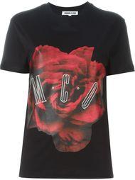 футболка с принтом розы McQ Alexander McQueen