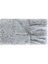 шарф с пятнистым принтом Agnona