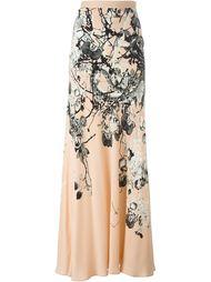 длинная юбка с цветочным принтом Roberto Cavalli