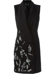 декорированное платье с запахом Philipp Plein