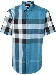 рубашка в клетку с короткими рукавами Burberry Brit