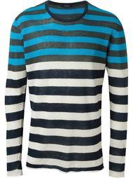 полосатый трикотажный свитер  Roberto Collina