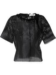 перфорированная прозрачная футболка  Aviù