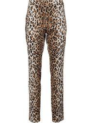 брюки с животным принтом Carolina Herrera
