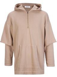 sleeve overlay pullover hoodie Monkey Time