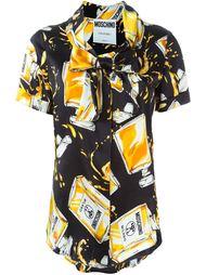 блузка с принтом флаконов духов Moschino