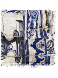 шарф с мозайчитым принтом Faliero Sarti