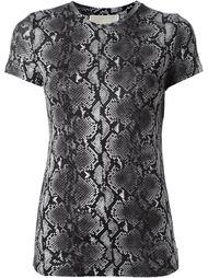 футболка с принтом змеиной кожи  Michael Michael Kors