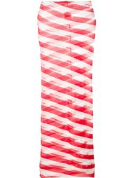 юбка миди 'Chilli Transparent Checks' Stella McCartney