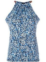 блузка с мелким цветочным узором Michael Michael Kors