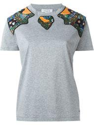 декорированная футболка с лоскутными вставками Coach