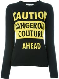 джемпер с принтом 'dangerous couture' Moschino