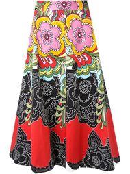 юбка А-силуэта с цветочным принтом Alice+Olivia