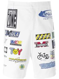 шорты с принтом знаков Moschino