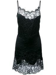 платье с кружевной отделкой и мятым эффектом Givenchy