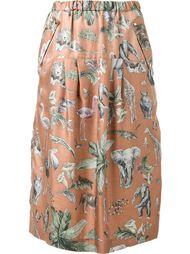 юбка с принтом животных Muveil