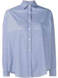 Stripe Convertible Long Sleeve Shirt Vince