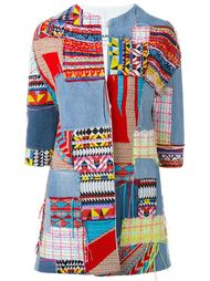 patchwork denim coat Ava Adore