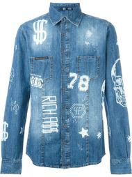 джинсовая рубашка 'Idol' Philipp Plein