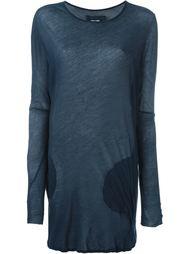 удлиненная блузка с круглыми карманами Kristensen Du Nord