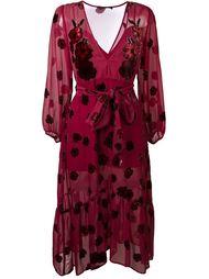 платье с запахом и цветочным принтом For Love And Lemons
