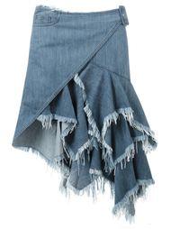 асимметричная джинсовая юбка  Marques'almeida