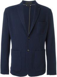 фактурный пиджак с накладными карманами  Z Zegna