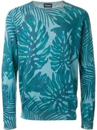 свитер с растительным принтом Drumohr