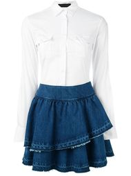 джинсовое платье с оборками  Christian Pellizzari