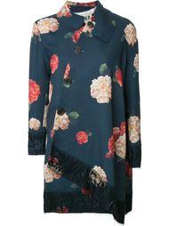 асимметричное пальто с цветочным принтом Awake