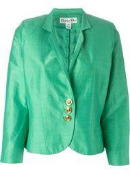 атласный уороченный пиджак  Christian Dior Vintage