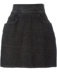 джинсовая короткая юбка  Moschino Vintage