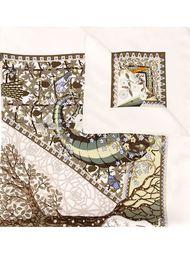 платок с принтом дерева Hermès Vintage